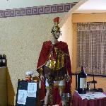L'accueil est fait par un légionnaire romain