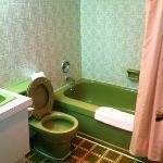 Salle de bain vert-pomme-foncé