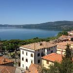 View of Trevignano from the ruins above the town