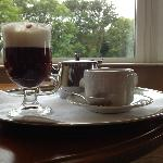 Irish Coffee and afternoon tea, made and delivered by Matthew.