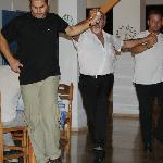 greek dancing on a friday night at the taverna