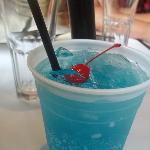 """Big Blue"" -Their famous blue soda, it was really yummy, It just looks like a vacation!"