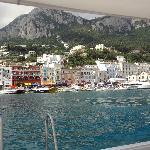 Chegando a Capri e vendo o hotel