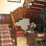 Escalier et bureau de l'accueil