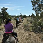Horseback riding trails above the hotel