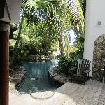 Private entrance to pool