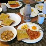 Home made breakfast with their utensils