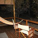 My deck with hammock