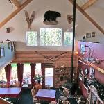 Looking down on the dining room from the loft