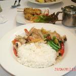 Lunch special- Basil Prawns