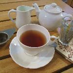 Real leaf tea at the café