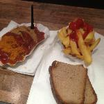"""Sausage, bread and fries combo. """"C"""""""