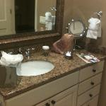 Marble and granite in bathrooms