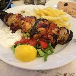 chicken bacon souvlaki! delicious!