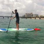 Paddleboarding off the Driftwood Beach