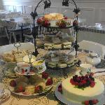 full afternoon tea service