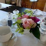 Beautifully laid breakfast table