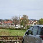 Scharding (Austria) seen from the hotel parking lot