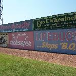 Vintage signs at Rickwood Field