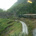80% of the Flåm Rail line is at a serious grade of 1:18!
