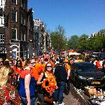 Prinsengracht during Queens Day celebrations
