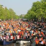 Queens Day celebrations time on Keizersgracht