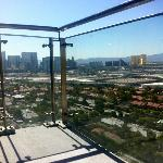 view of the strip from our condo balcony