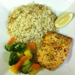 My dinner last night! Lemon pepper salmon!
