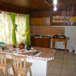 The kitchen in the Colibri room