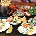 Lobster Frites & Seared King Scallops in the Shell