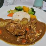 curry chicken at Carib Beach Bar