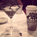 Spring garlic martini