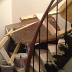 """the """"no"""" construction on stairwell"""