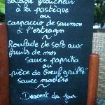 Un exemple de menu