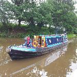 "Narrowboat ""Owl"" near Manchester, July 2012"
