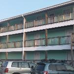 Back side view of hotel