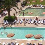 le piscine dall'alto