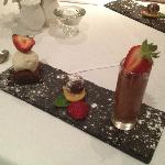 The special chocolate dessert - sorry, you've probably missed your chance to have one of these!