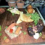Starter - The Chef's Sample Board, really excellent