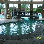 indoor and outdoor pool area