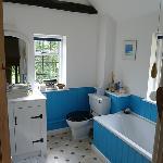 The Beamed Room's deep soaking tub
