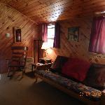 Sitting area inside of cabin