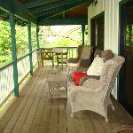 Expansive deck off Plumeria Suite (double doors -- off family room and master bedroom)