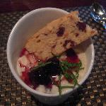Rice Pudding with Cherries, Fresh Mint and House-made Biscotti