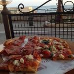 pizza for 2. with a view