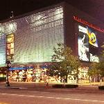Exterior Night View of The College Basketball Experience