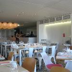 Inside the restaurant - really lovely