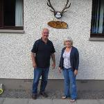 Patrick and Christine outside Stanton Villa on 04.06.2012 at the start of the trip.