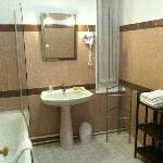 Outdated, but spacious bathroom - room 9