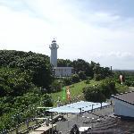 灯台と「サービスセンター燈台の駅」